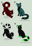 Adoptables :D by BlackFlamingox