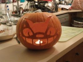 jack o lantern- with candle by UndertakerisEpic