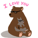 I love you beary much by MissBillyF