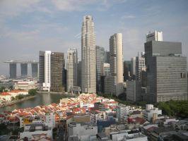 Singapore Commercial District by cscmatrix