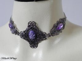 Silver filigree choker by BlackWings-jewelry