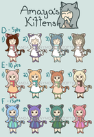 Adopt-a-Kitty:Batch 2 (Close) by PandaAnonymous