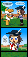 Animal Crossing New Leaf - A Gift by Wolf-Goddess13