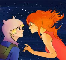 Finn and Flame Princess by holazoe