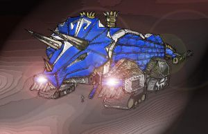 Steam Punk Triceratops Zord by DirtyColumbus