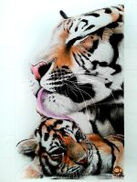 Tiger and Cub (Color Pencil Drawing) by Ankredible