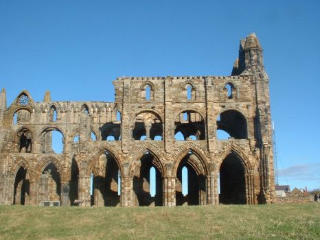 Side View of Whitby Abbey by Panselinos
