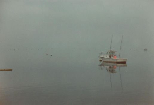boat in fog by LilithParker