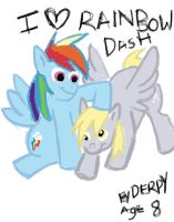I love Rainbow Dash by Derpy age 8 by starlightv