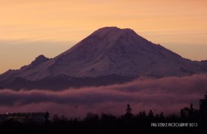 Sunrise and Mt. Rainer #3 by SilentMobster42