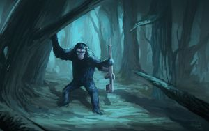 Koba from Dawn of the Planet of the Apes by AnnaP-Artwork