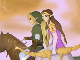 zelda and link by alanna11