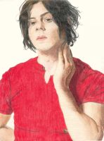Jack White in Colored Pencil 2 by octoberrust