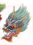 Oni tattoo design 2 by Punch-line-designs