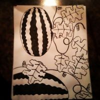 India Ink Watermelons by RainbowGuitars