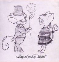 Valentine mice by SweetCatMint