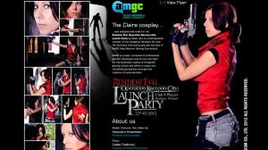 AMGC - Claire cosplay website by Rukiii