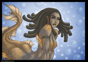 OCset - Myth - Mermaid Suzumi by Hunter-Wolf