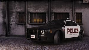 Police Car at Scene,Stock by fred-rock