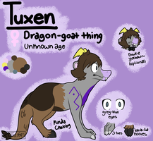 My fursona Tuxen ref by Tuxn