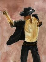 Michael Jackson WaterColor by blondewolf2