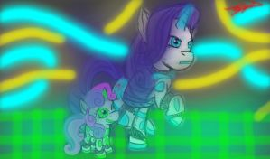 Rari-bot and Sweetie-bot by ShadesofEverfree