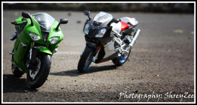 Ninja and Aprillia 2 by shreyzee