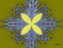 Butteryfly Fractal - Yellow by BigThunder1