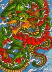 ATC ACEO - Chinese Dragon by psycrowe