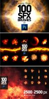100 PS SFX BRUSHES 490598 by xgfxws