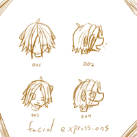 facial expressions by kitten-boy