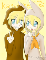 Animal Len and Rin by Kream-Cheese