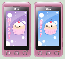 Kawaii Greeting on LG Cookie by SorceressDream