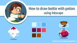 How to draw bottle with potion by AhNinniah
