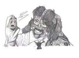 Mankind and Mr. Socko by OptimumBuster