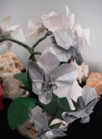Origami orchids by Gryph-Draco