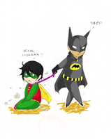 Batman and Robin by The-Butterses