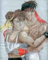 Ryu and Chun Li No2 by gatchacaz