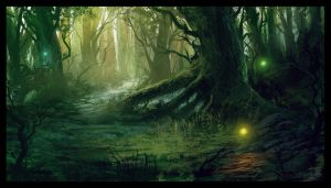 Mana Cycle: Forest Scene by ReneAigner