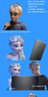 Jack and Elsa discover Rule 34 by InsaneHoneyBadger
