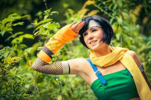 Yuffie - What's over there? by Evil-Uke-Sora