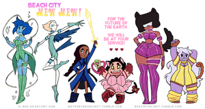 Beach City Mew Mew! by Ai-Bee