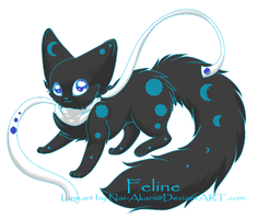 Moon Cat Adopt [CLOSED] by Dark-Angel-Rin