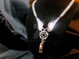 Supernatural Chainmaille Necklace by NebulaDraconian