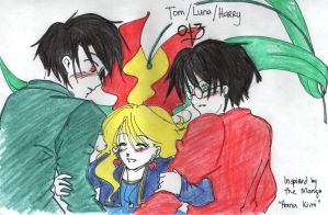 Tom, Luna and Harry by lunacyandme