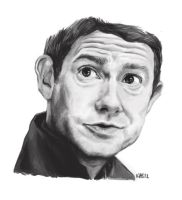 martin freeman portrait by RaveTaylor