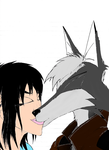 Jace and Nicole Kiss 50% Complete by Kal241