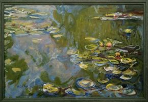 copie nympheas 1919 Monet by Moenn