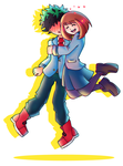 Deku and Uraraka by Star-Charm