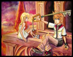 Reminisce: Roxas and Namine by OtakuEC